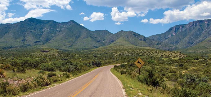 Road to green mountains