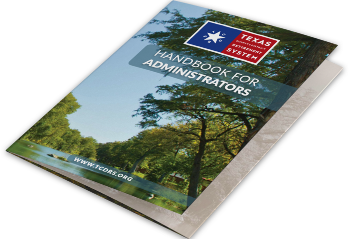 TCDRS employer handbook cover photo